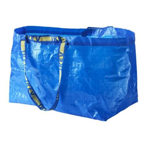 ikea frakta shop ikea large reusable shopping laundry tote bag blue grocery