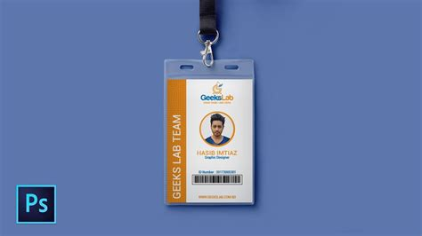 Id Card Template Photoshop by How To Design Id Card In Photoshop Photoshop Tutorial