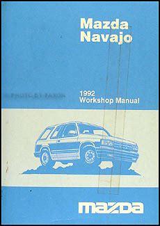 service manuals schematics 1992 mazda navajo regenerative braking 1992 mazda navajo repair shop manual original