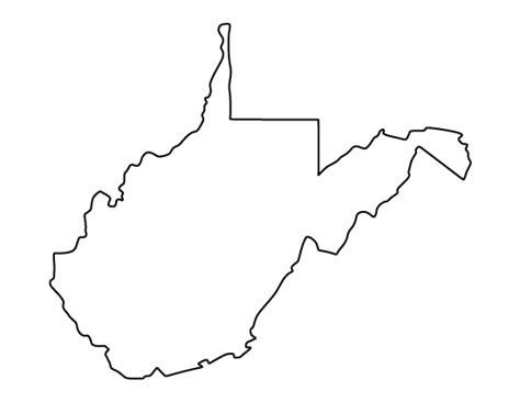 virgina shapes west virginia pattern use the printable outline for