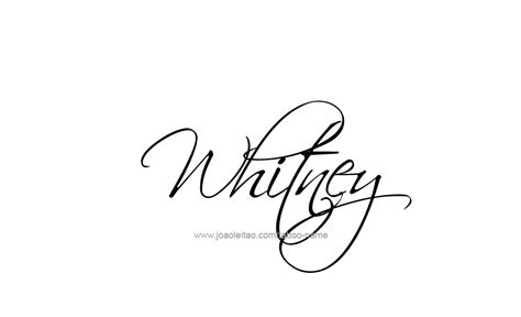whitney name tattoo designs