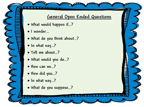 open ended question questions that requires more than a