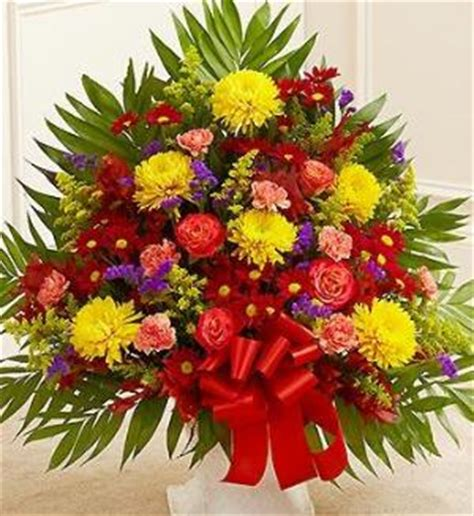 funeral colors sympathy floor basket in fall colors funeral flowers
