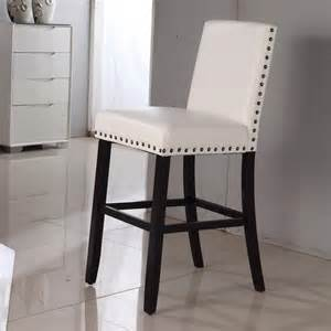 luxury creamy white faux leather nail head bar stool overstock shopping great deals on