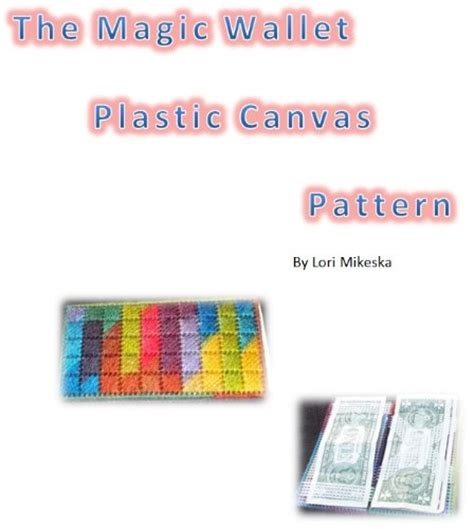 pattern magic wallet download quot the magic wallet plastic canvas pattern quot by lori