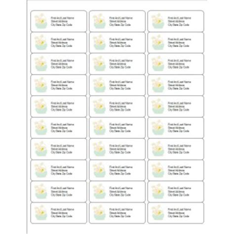polaroid mailing labels template free address label templates 30 per sheet
