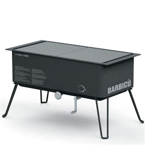 Alessi Optional Gas Grill BBQ Bundle (Alessi Gas BBQ, Table Car and Furnace Cover) Garden