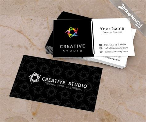 free psd business card template graphicswall