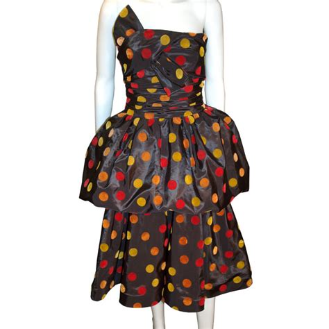 Polky Dress Ori Gamis Polka 1950 s ricci autumn polka dots formal cocktail dress for sale antiques classifieds