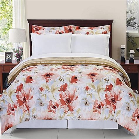 rose comforter sonata reversible comforter set in rose bed bath beyond