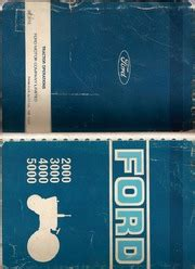 ford tractor models      operators service manual