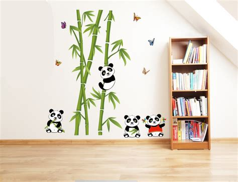 large wall decals living room aliexpress buy new panda bamboo large wall stickers home decor living room diy