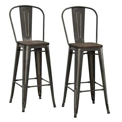 Antique Copper Bar Stools by Dhp Lena 30 In Antique Copper Metal Bar Stool With Wood