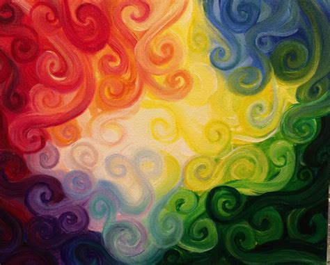 swirly color blending painting by amandaruthart on deviantart