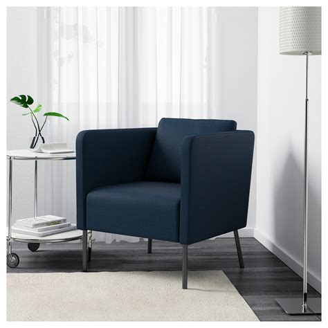 dark blue armchair eker 214 armchair skiftebo dark blue ikea