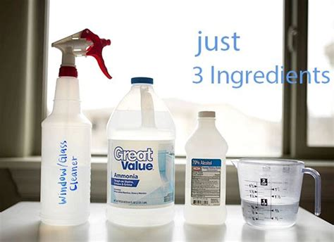 recipe window cleaner ammonia alcohol