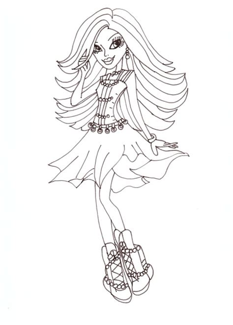 Monster High Coloring Pages Spectra Photograph All About M High Doll Coloring Pages