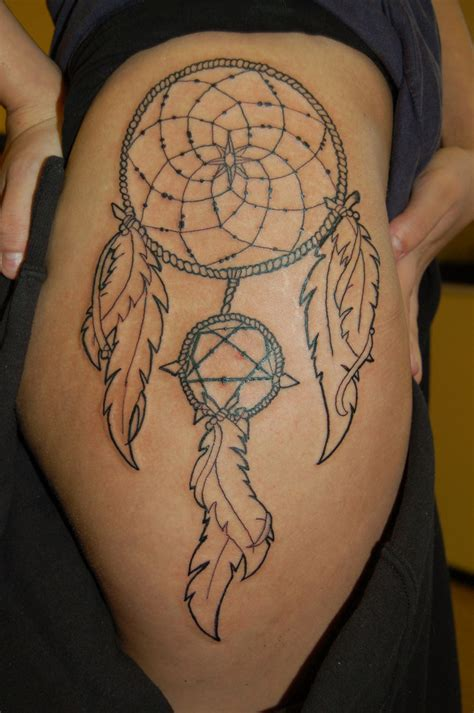 dream catcher thigh tattoo dreamcatcher tattoos designs ideas and meaning tattoos