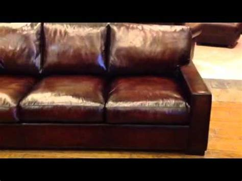 extra deep leather couch baja leather cameron extra deep leather sofa youtube