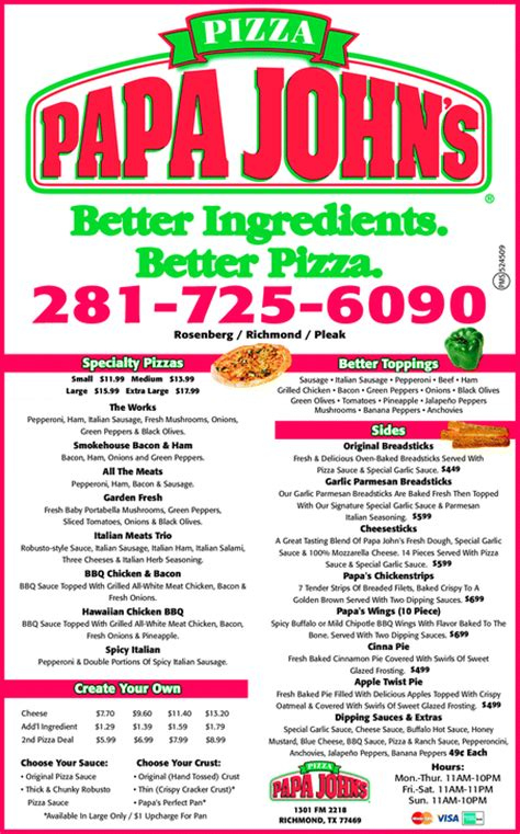 phone number for papa johns yellowbook the local yellow pages directory