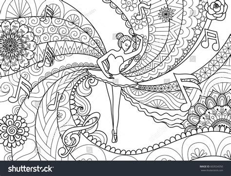 zendoodle coloring pages zendoodle design ballet dancer coloring stock vector