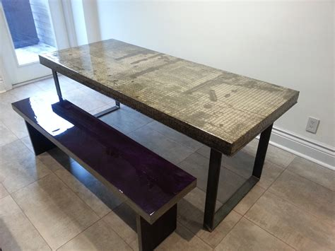 concrete top dining table concrete dining table h h bespoke concrete top tables