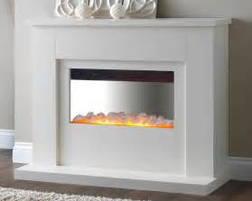 white modern fireplace electric fires
