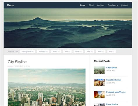 free wordpress photoblog themes 12 new free responsive wordpress themes june 2012