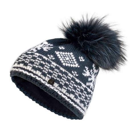 bogner carrie knit womens ski hat in navy womens