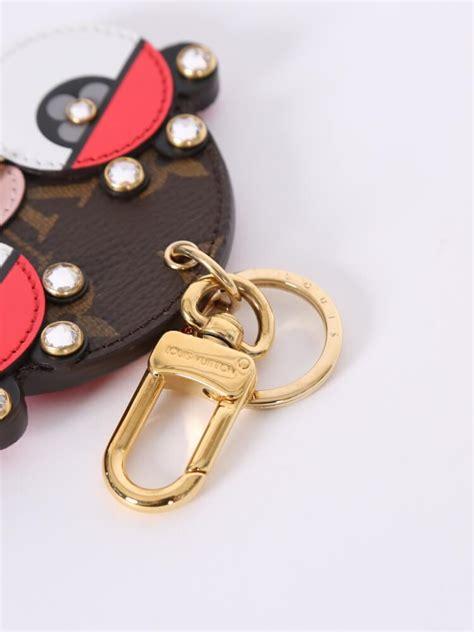 louis vuitton animal faces bag charm  key holder
