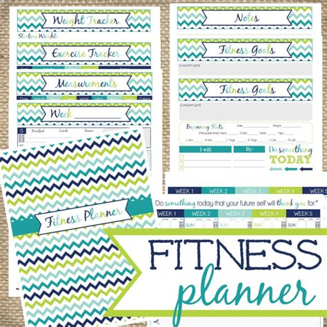 printable exercise planner free printable health and fitness planners and printable