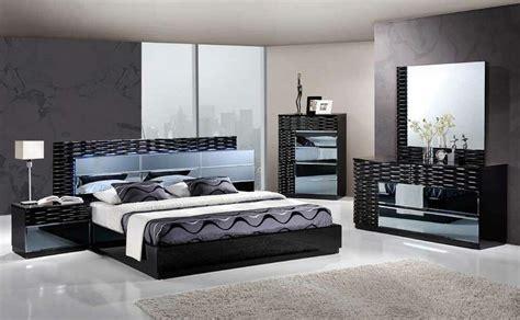 manhattan king size modern black bedroom set pc global furniture ebay