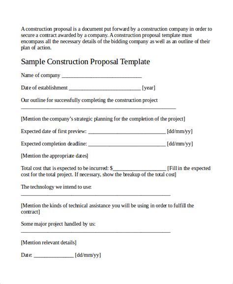 job proposal template 18 free word pdf document