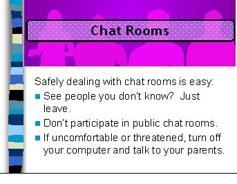 t chat room 7 8 grade safe connects net literacy