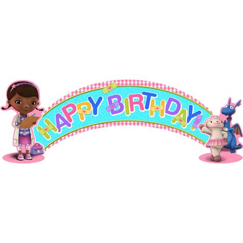 doc mcstuffins printable birthday banner doc mcstuffins birthday banner this party started