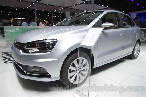 volkswagen ameo white vw ameo front three quarter left at auto expo 2016