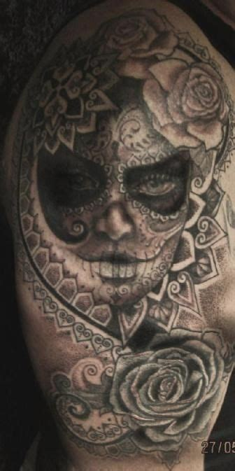 tattoo extreme canberra ghostly looking sugar skull tattoo tattoo pinterest