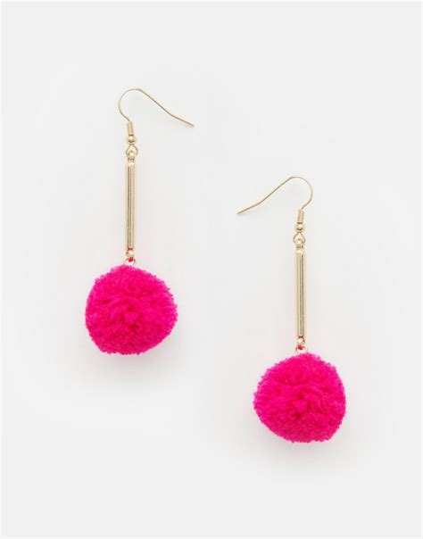Pom Pom Earring by Shoptagr Asos Nikou Pom Pom Earrings By Asos