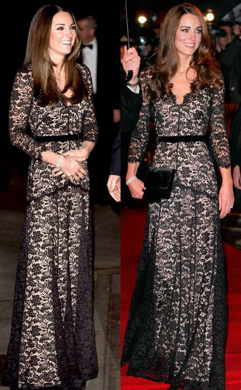 Geller In Temperley For The Premier The Air I Breathe by Kate Middleton Repeats Lace Temperley Dress
