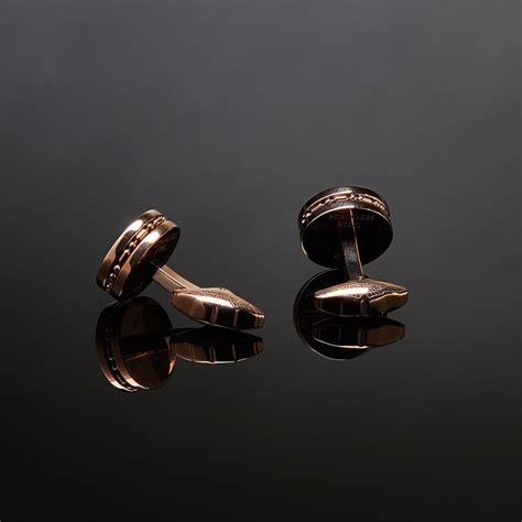 rose gold aston martin aston martin round cufflinks rose gold aston martin