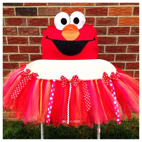 1st Birthday High Chair Cover by Elmo High Chair Tutu Cover High Chair Tutu High Chair