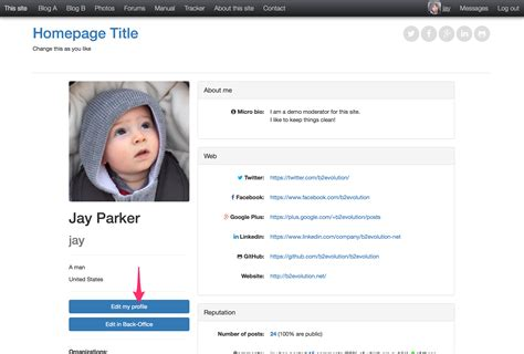 how to view edit your user profile