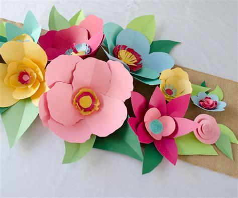 Construction Paper Flowers - construction paper flowers in pretty paper flowers day