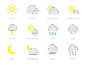 Calm Colors weather icons by joshua porter dribbble