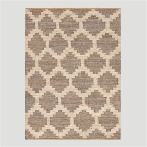 rugs world market taupe jiya flat woven hemp rug world market