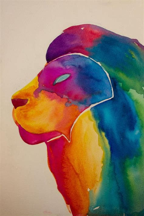 watercolor lion tutorial 1000 images about painting on pinterest acrylics hand