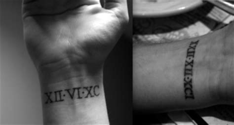 date of birth wrist tattoos birth date ideas www pixshark images