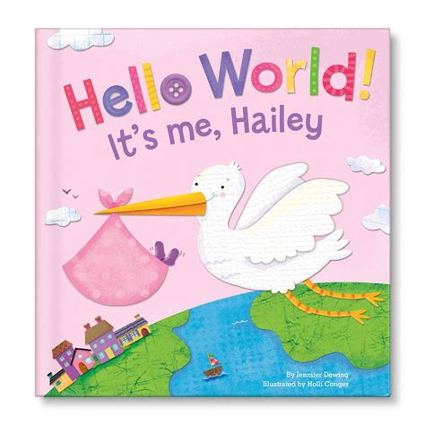 personalized books for children with their picture hello world in pink personalized children s books