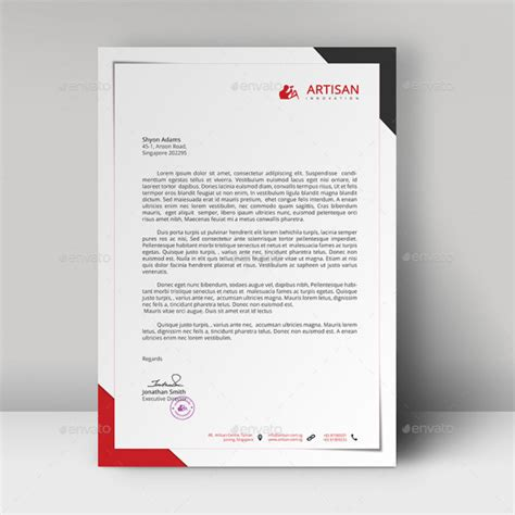 business letterhead template 40 free premium letterhead templates in