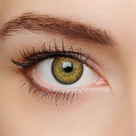 hazel colored contacts hazel 3 tone contact lenses